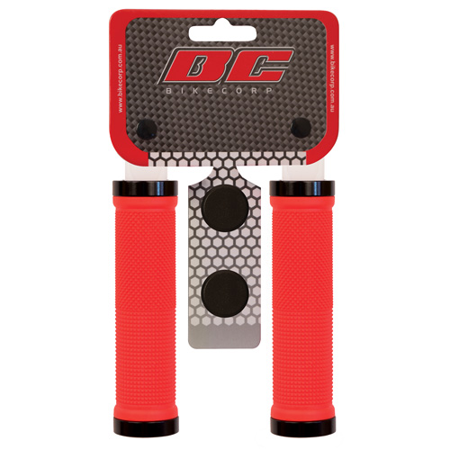 H/BAR GRIP LOCK-ON RED