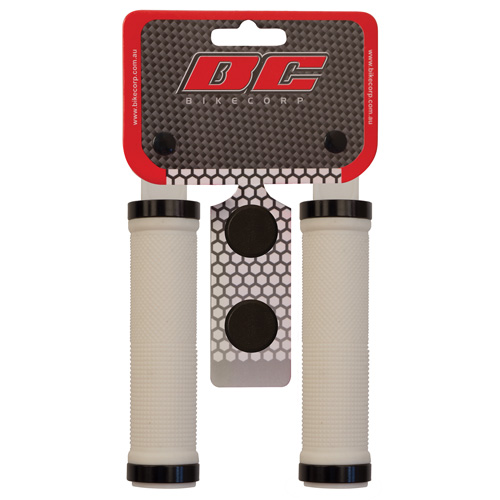 H/BAR GRIP LOCK-ON WHITE